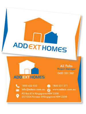 add ext homes business card 1