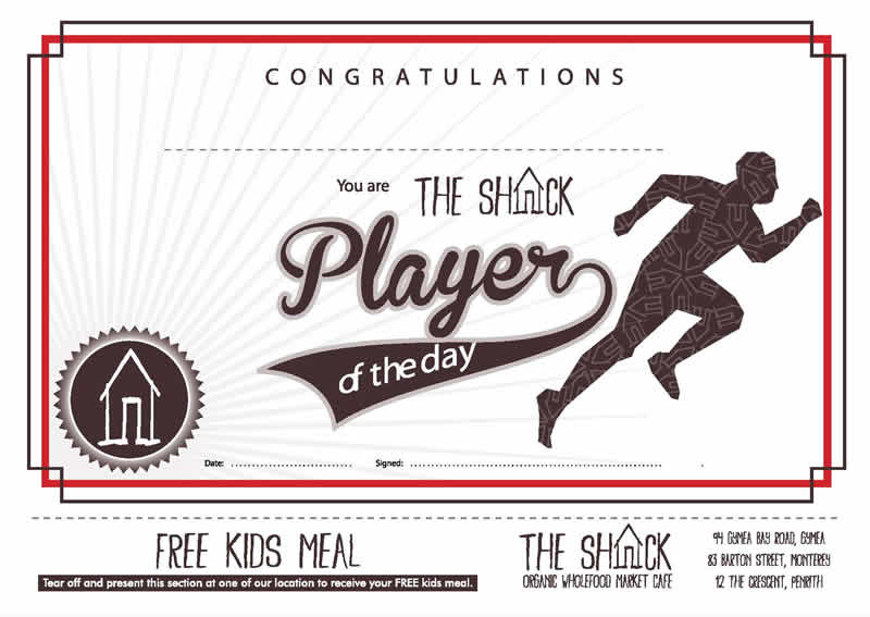 shack player day certificate