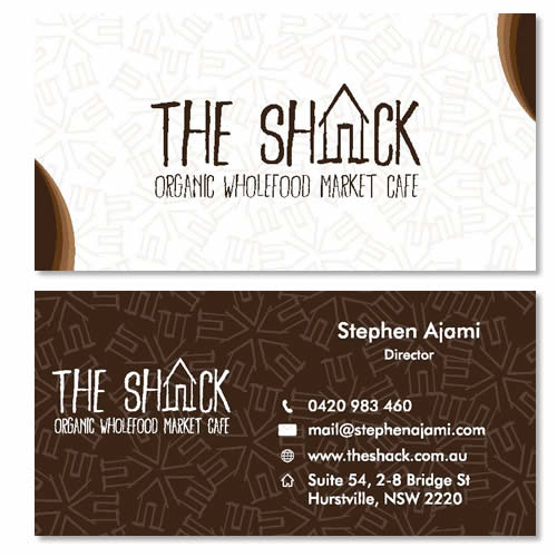 the shack business card