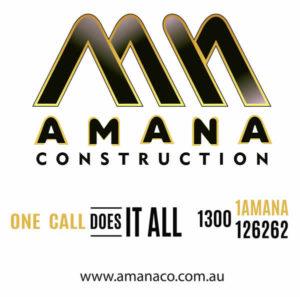 amana contruction site sign x m