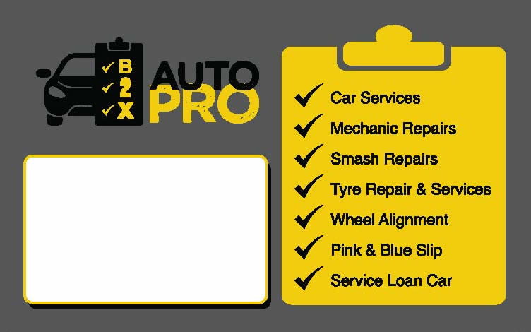 b2x auto pro business card back