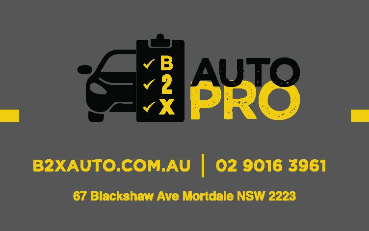 b2x auto pro business card front