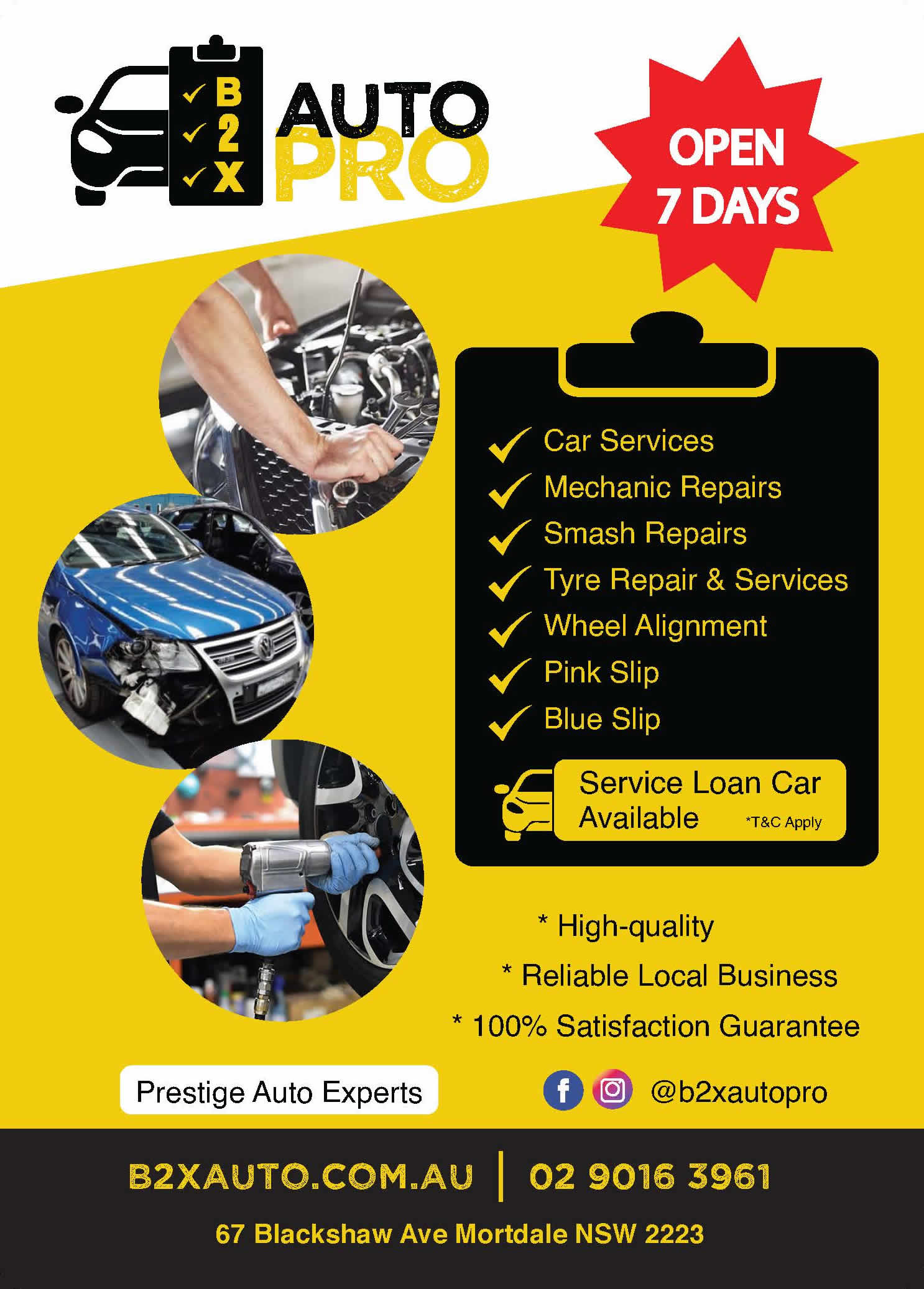 b2x auto pro flyer